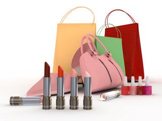 Pink shoe and handbag
