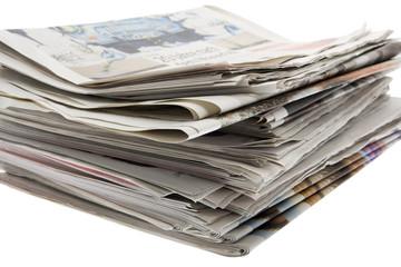 Presse, Stapel von Zeitungen