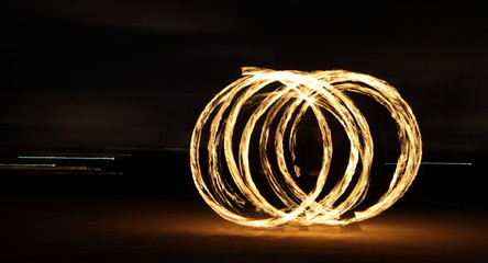 Circles of flaming fire