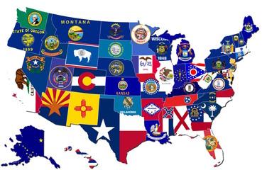 Collage - Bundesstaaten der USA