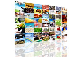 Tv screen composition