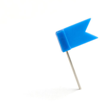 Flag a pin blue