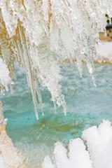 fontaine givrée