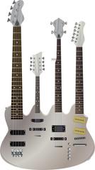 Quad neck guitar