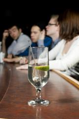 Glass on bar