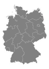Deutschlandkarte, politisch