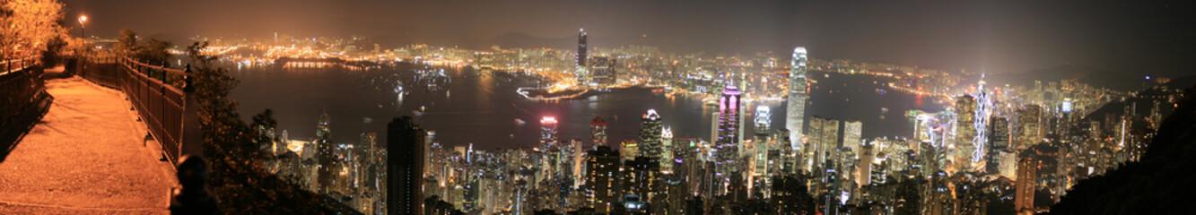 Hongkong (Hong Kong), China - Skyline at night