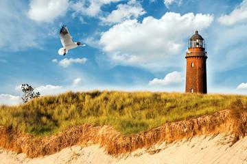 Fototapete - Ostsee Leuchtturm