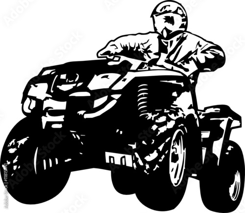 Four Wheeler Clip Art : Quot bombardier atv stock image and royalty free vector files