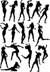 seventeen women silhouettes