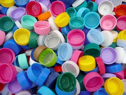Recycle plastic bottle caps