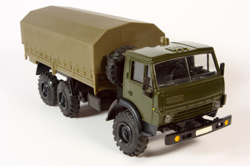 Scale metal model of a lorry