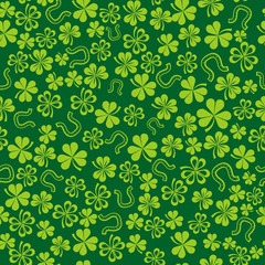 green background with shamrock