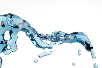 Fantasy soar Abstract water, splash and bubble liquid