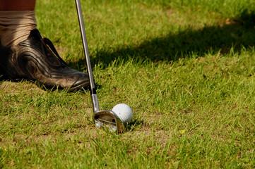 hit the golf ball