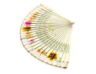 pretty fan on white