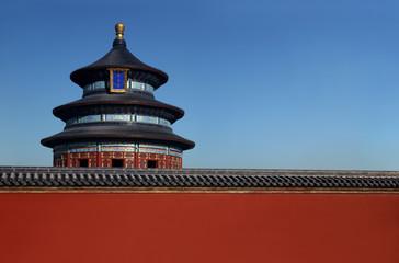 Fotobehang Beijing The Temple of Heaven in Beijing. Space for print.