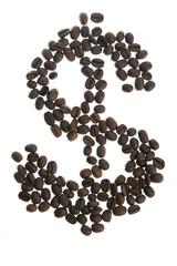 Wall Murals Coffee beans Coffey dolar $ sign