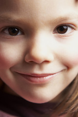 close up of a young girl