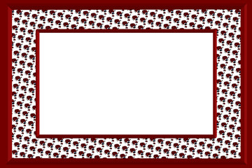 Ladybugs 3D Pictureframe - With Isolated Copyspace