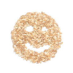 Happy smile designed with cereals