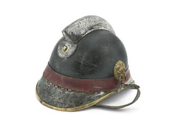 Vintage fireman helmet