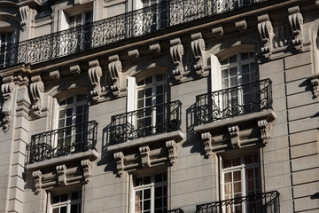 balcons de logements bourgeois