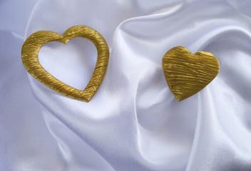 Two silk heart