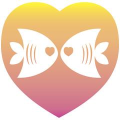 Valentine love heart shape