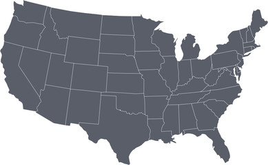 There is a map of USA country