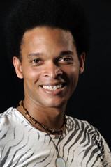 Happy african man