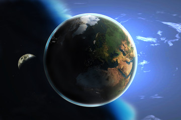Earth and the heavens (day and night)