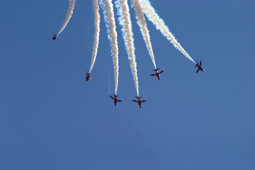 Flying formation going down