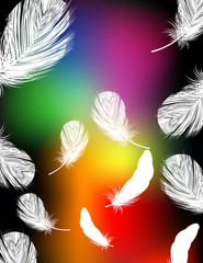 Rainbow color feather background
