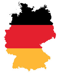 symbolic image: Germany: outline and flag