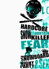 Snowboard background 3