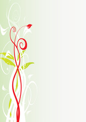 tige floral vert et rouge