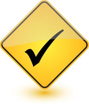 Yellow Tick Label