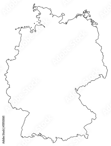 deutschland karte umriss deutschland karte umriss germany map