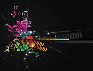 Floral vector composition
