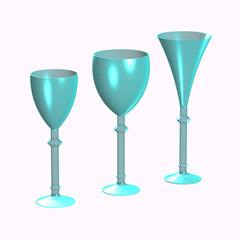 Bicchieri azzurri