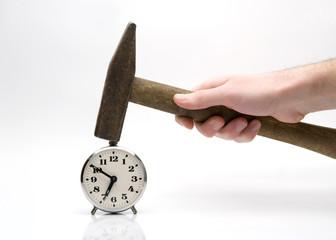 Hammering alarm-clock