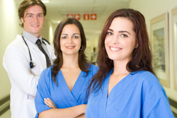 nurses and doctor in hospital
