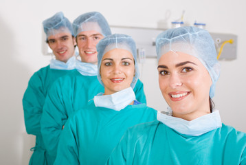 doctors in surgical gown