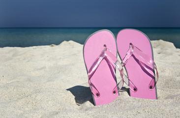 flip-flops  and beautiful beach