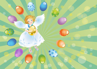Easter reason with an angel-1