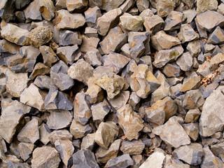 Multiple Broken Flint Rocks Background