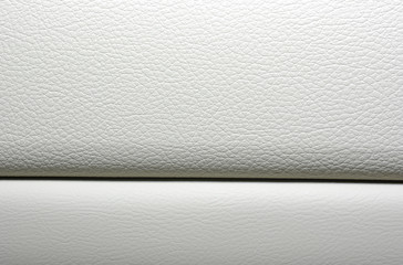 White leather background. Modern japanese car interior materials