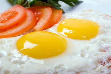 Delicious egg with vegetable