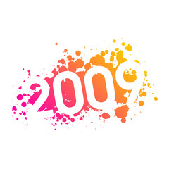 year 2009 illustration